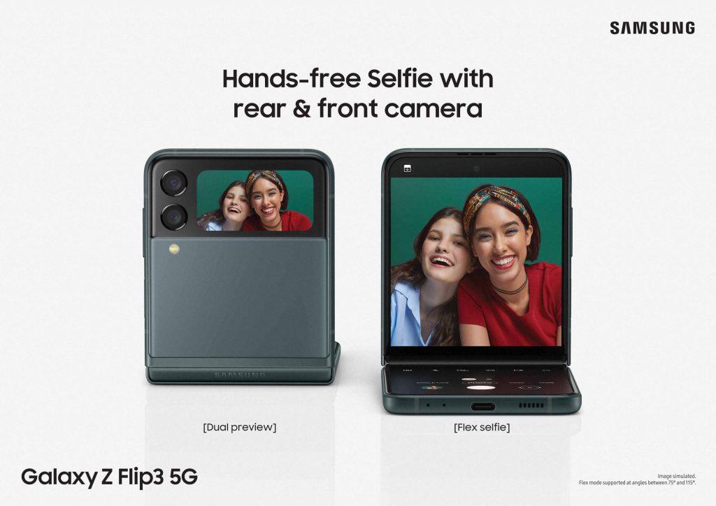 01 118galaxy z flip3 feature visual handsfree selfie 2p cmyk 210715 l